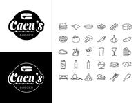 Cacu's Burger Logo and Branding