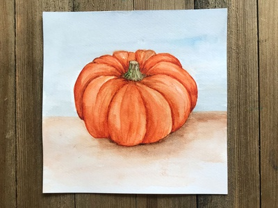 Fall Pumpkin Watercolor Illustration watercolor painting watercolour halloween pumpkin halloween seasonal fall colors pumpkin spice season autumn pumpkin fall design watercolor art painting watercolor illustration