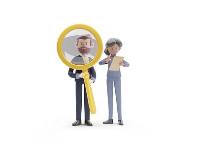 UI - Characters 1 cartoon ui character blender3d 3d blender design illustration