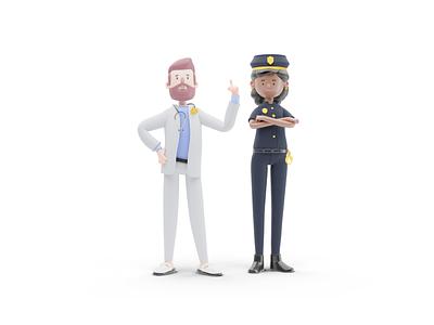 UI - Characters 4 character ui blender3d 3d blender design illustration