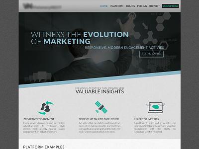Marketing Cloud Website clean minimal sleek business marketing slanted engagement