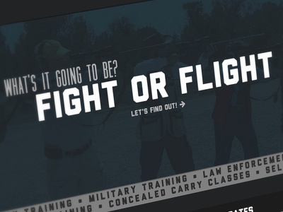 Tactical Training dark education firearms guns website web typography florida law enforcement