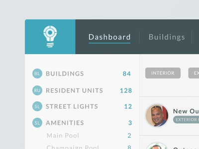 Bulb Tracker web groundsmanagement maintenance tracker webapp building apartment bulb lightbulb