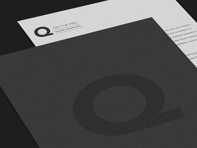 Qui The Pro Branding business cards letterhead deejay dj dark branding