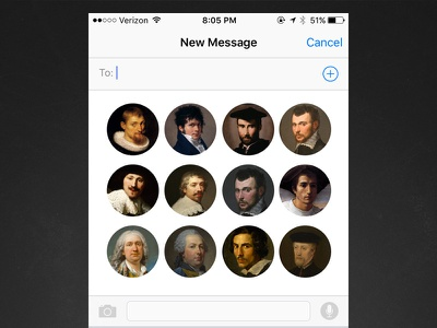 iOS New Message w/ Favorites imessage texting ios iphone