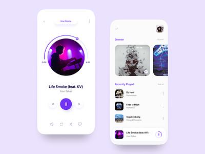 Minimal Music Player music player ui design flat india concept uiuxdesigner uiux design uiuxdesign minimal design uiux ux ui minimal design app