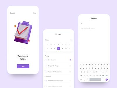 Note App uidaily uix uidesigner uidesign note app note taking app typography flat uiux india concept ux ui minimal design app