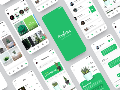 Bagicha - UI/UX Case Study ios app design case study figma sketch design app ui  ux uidesign user interface ui user interface design ui design gardener uiux india flat minimal design concept app ux ui