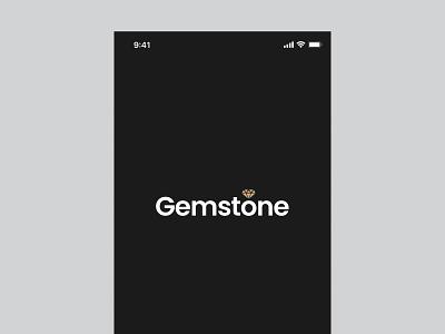Gemstone Jewelry App Logo ecommerce logo logo inspiration mobile app ui mobile app logo app design ui ux app logo jewelry logo branding 3d logo concept graphic design logo design logo illustration flat concept ux ui minimal