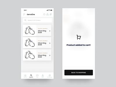 Jewelry App UI Design cards ui ecommerce design mobile app design mobile app ui app ui ui design ux ui app design screen ui payment screen cart ui ecommerce ui ecommerce app design concept app ui ux minimal