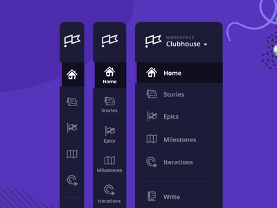 Clubhouse Redesign! product design remote working remote tickets stories milestones epics jira github development project management user research feedback figma redesign cards menu navigation clubhouse
