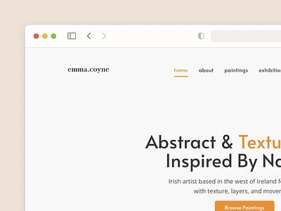 Art Platform Homepage ecommerce portfolio clean earth cms ux ui collection art