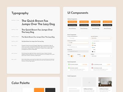 Art Platform ⏤ Styleguide & Components inputs search dropdowns design system styleguide components webite art ui