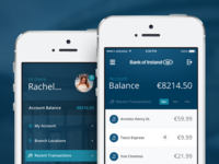 Bank of Ireland Mobile Banking App Concept