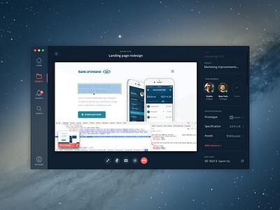 Designer/developer collaboration app jira video call zeplin invision developer desktop mac app collaboration