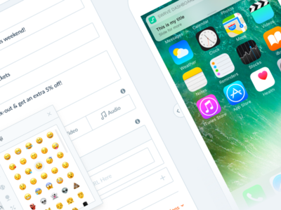 Swrve Push Notification Redesign mma swrve ui ux emojis android ios redesign notifications push