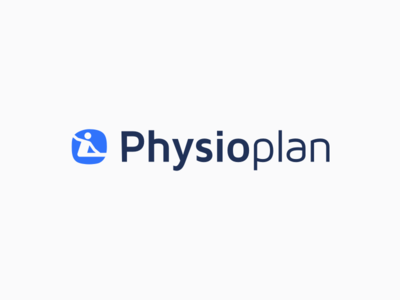 Physio Plan Logo grey white blue rehabilitation plan physiotherapists physio logo