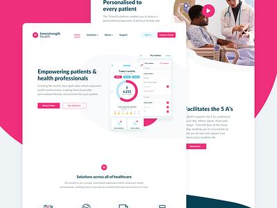 Innerstrength Health Website web design patient health app branding healthcare health marketing website