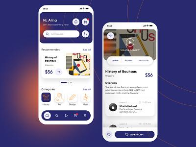 E-learning app art figma ux ui