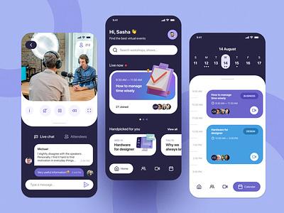 Virtual events app mobile app events virtual design ux ui figma