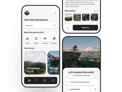 Travel app activity 3d application app travel microinteractions interaction design animation after effects design ux ui figma