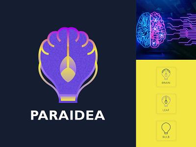 Paraidea Logo brainlogo modernlogo idea ux brand creativelogo design companylogo vector illustration brain ui branding graphic design logo