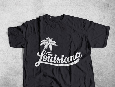 LOUISIANA typography design logo illustration typography art apparel designer design typography t-shirt branding