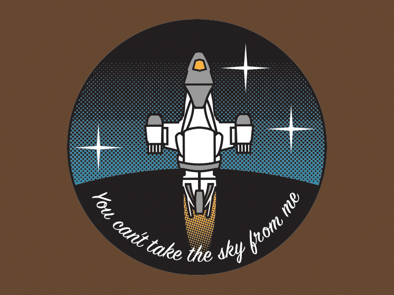 You can't take the sky from me serenity vector badge browncoats firefly