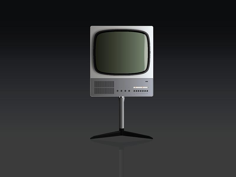 Braun FS 80 illustrator television tv fs80 dieter rams braun
