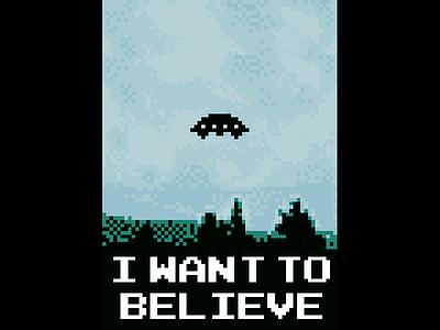 I Want To Believe in 8 bit ufo 8bit xfiles