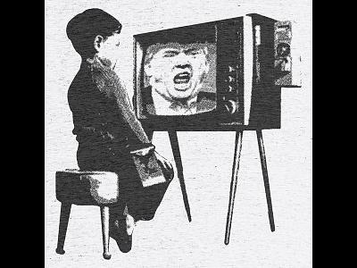 Turn Off Your TV media tv political protest banksy trump