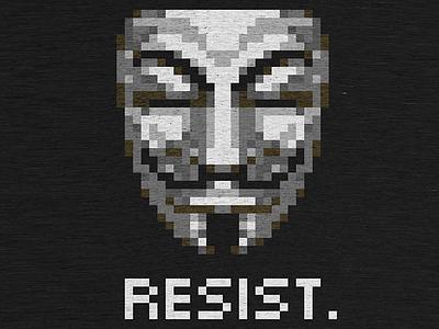 Resist. womensmarch resistance donald trump cottonbureau shirt fawkes anonymous politics nevertrump trump resist