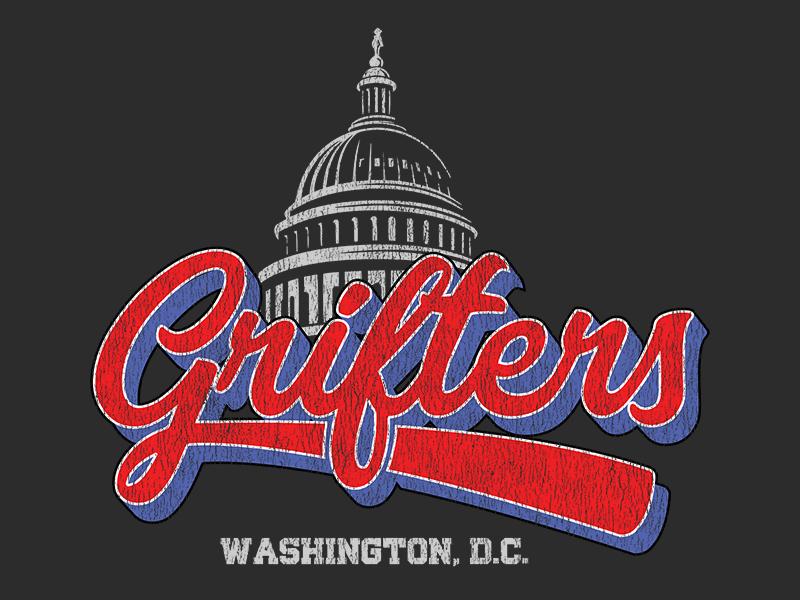 Washington DC Grifters shirt retro baseball political