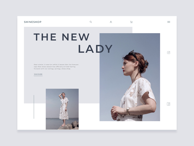Clothing store concept online store online shopping animation minimal ecommerce minimalistic banner hero clothes clothing lady store shop concept website web figma ux ui design