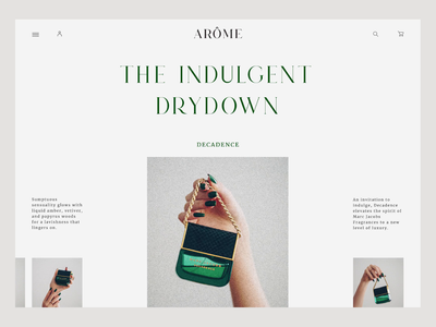 Perfumes store website concept typography cosmetics perfumes store minimal colors online shop ecommerce flow first page motion design interaction animation motion graphics web figma ux ui design