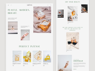 Perfumes store website concept - Collection online shop online store categories ecommerce product page lady perfumes fashion minimalistic minimal catalouge collections collection page website web figma ux ui design