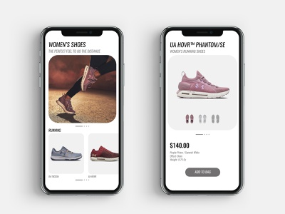 Hello Dribbble! product card under armour sneaker mobile ux ui design app
