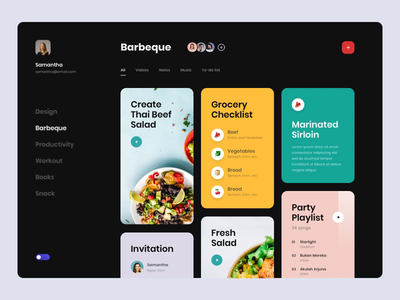#Exploration - Bookmark App typography bold clean animation motion gif principle interaction mode light dark tags card bookmark ux ui app desktop web