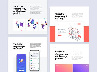 Layout Variations mobile illustrations bold typography whitespace clean ux case study desktop website ui layout design portfolio
