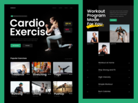 Workout Website photography whitespace clean grid bold typography design ux ui mobile desktop homepage landing page website yoga sport exercise gym fitness workout