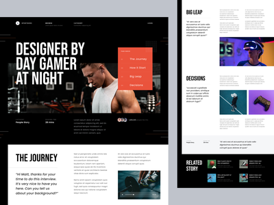 #Exploration - Article Page photography whitespace design ux ui clean bold typography landing page homepage website blog details news article