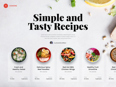 #Exploration - Food Website typography bold clean whitespace design ux ui website homepage landing page photography bowl tasty delicious cook recipes food