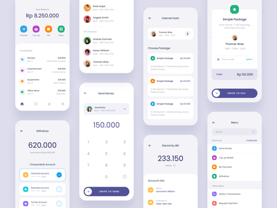 #Exploration - Digital Wallet App - More Screens ios card banking money dashboard transactions payment finance typography bold whitespace clean ux ui design mobile app wallet digital