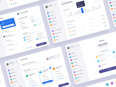 #Exploration - Digital Wallet App - iPad - More Screens stats dashboard ux ui design whitespace clean card banking fintech finance transactions money iphone app wallet digital