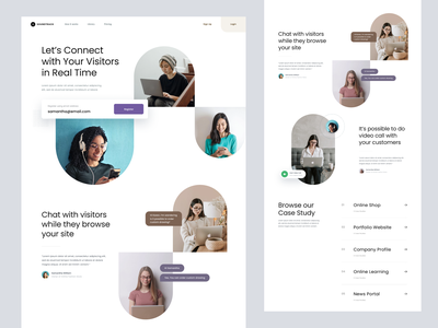 #Exploration - Landing Page minimalist typography ux design ui clean whitespace photography homepage website landing page