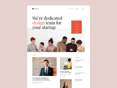 #Exploration - Homepage for Agency branding ux ui clean whitespace typography minimalist card news team startup agency photograhy design hero landing page website desktop homepage