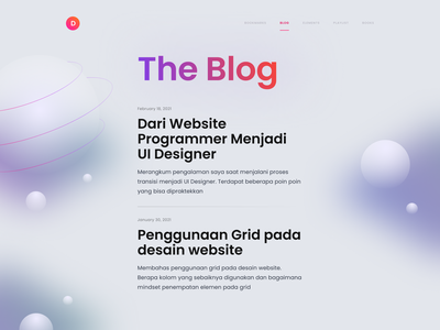 My Personal Website - Blog Launched 🚀 typography details article blog clean bold minimalist 3d landing page homepage website