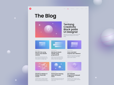 Blog - Personal Website blog post gradient glass glassmorphism thumbnail landing page homepage website news magazine design article blog