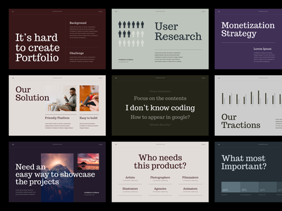 #Exploration - Typography and Layout - Pitch Deck whitespace clean pitch deck template powerpoint keynote design unique layout slide presentation deck pitch typography