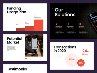 #Exploration - Pitch Deck bold whitespace clean pitch deck design template powerpoint slide keynote chart typography layout design presentation deck pitch